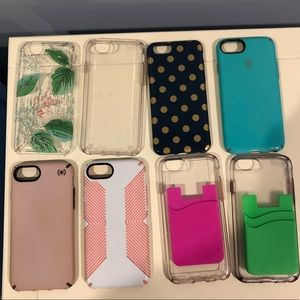 IPHONE 7/8 CASES KATE SPADE SPECK pink clear blue